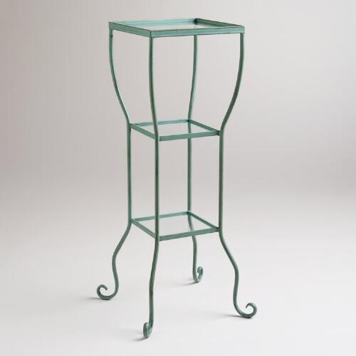 Aqua 3-Tier Tiffany Storage Tower