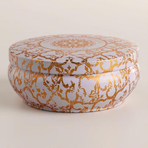 Sparkling Champagne Printed Candle Tin
