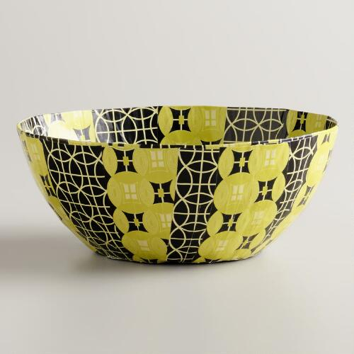 Small Black and Yellow Shields Bowl