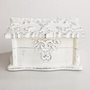 Whitewashed Scalloped Simona Jewelry Box