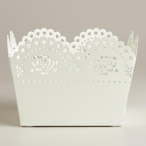 White Scalloped Taryn Boxes