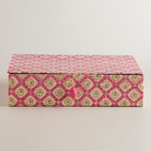 Pink Rectangular Cassandra Box