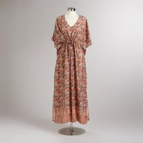 Tribal Brown Anita Long Kaftan