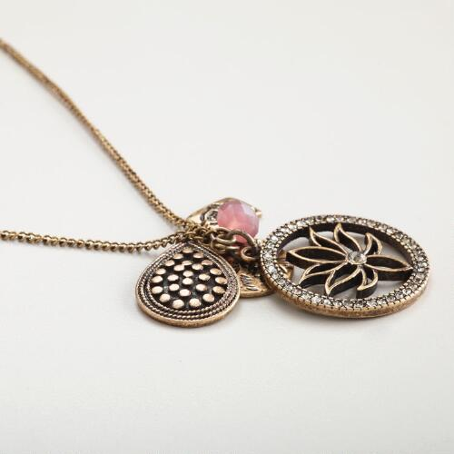 Lotus Flower Charms Necklace