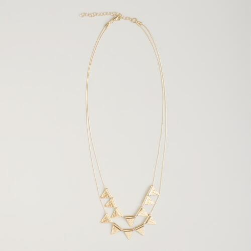 Gold Triangles Necklace