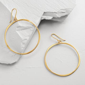 Matte Gold Hoop Earrings
