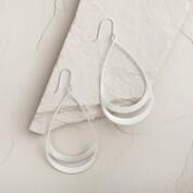 Large Silver Teardrop Earrings