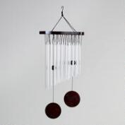 Aluminum Tube Wind Chimes with Black Wood