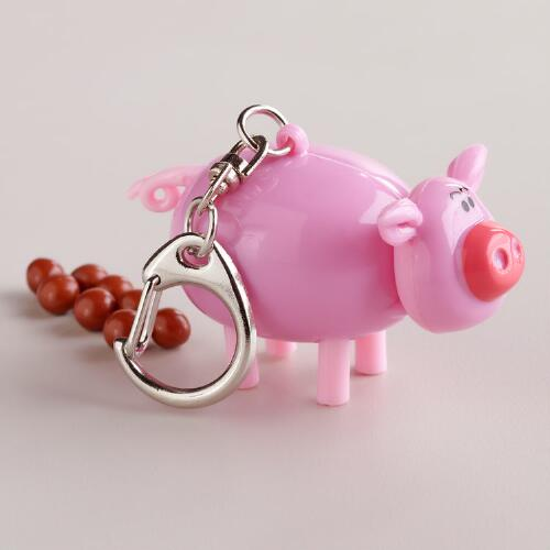 Midlon Mini Porky Pooper Key Chain, Set of 6