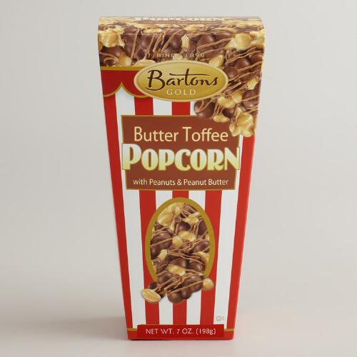 Bartons Butter Toffee Popcorn with Peanuts & Peanut Butter