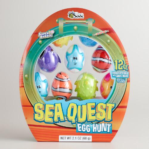 Bee International Sea Quest Eggs with Candy, 12-Count