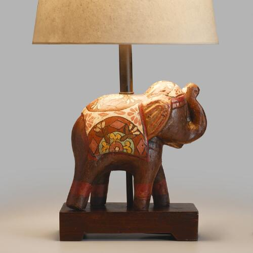 Indian Elephant Accent Lamp Base