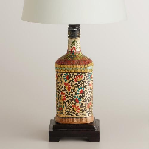 Indian Bottle Accent Lamp Base