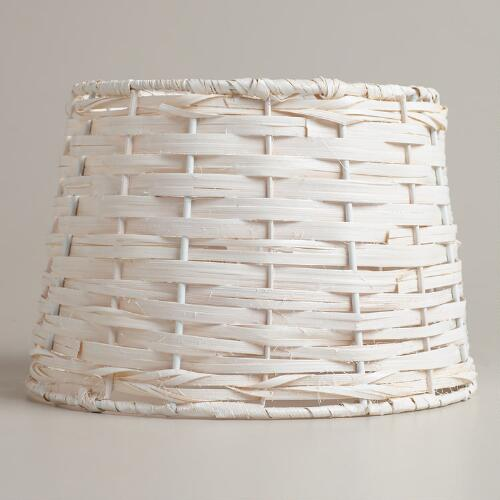White Basket Accent Lamp Shade