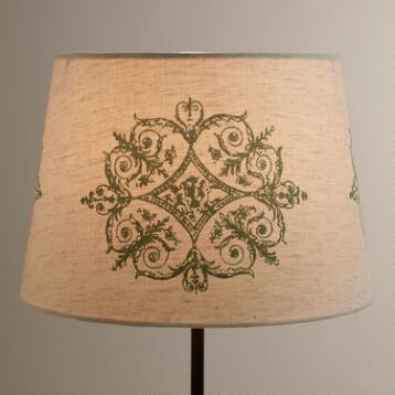 Linen Medallion Accent Lamp Shade