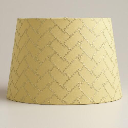 Lime Geo Stitch Accent Lamp Shade