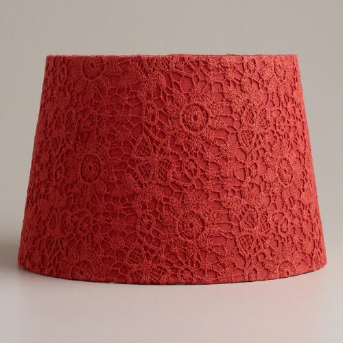Baked Apple Lace Accent Lamp Shade