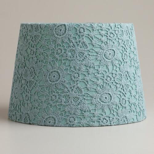 Blue Fog Lace Accent Lamp Shade
