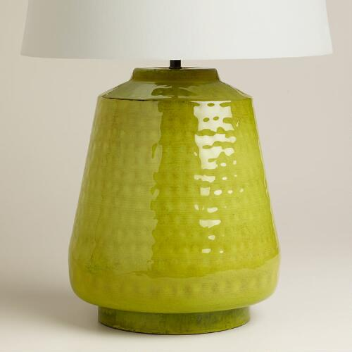 Green Enamel Table Lamp Base