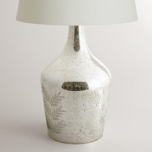 Mercury Glass Etched Table Lamp Base