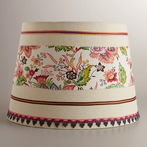 Floral Ribbon Table Lamp Shade