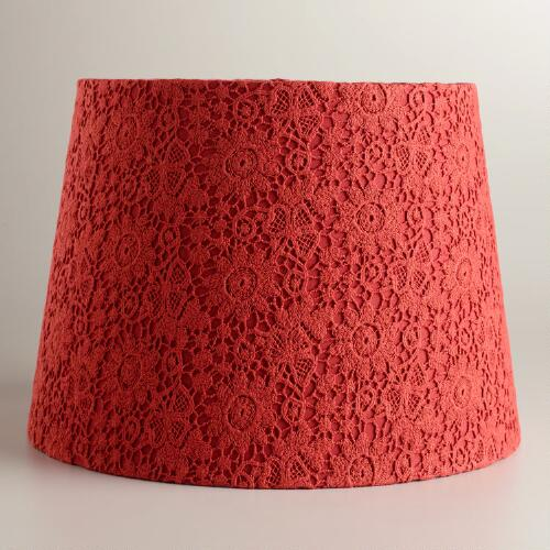 Baked Apple Lace Daisy Table Lamp Shade
