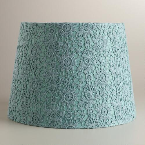Blue Fog Lace Daisy Table Lamp Shade