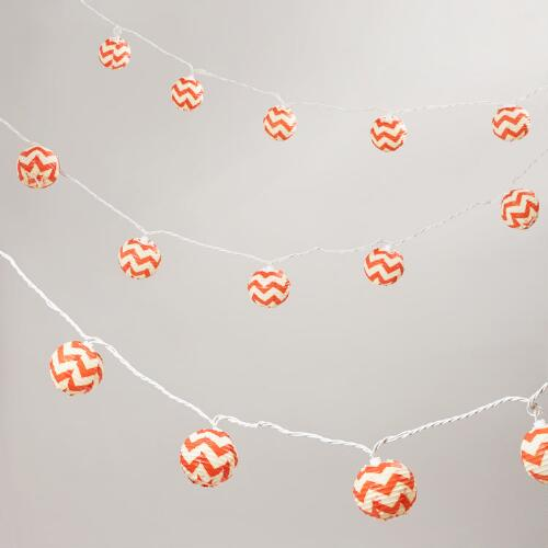 Chevron Paper String Lights