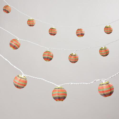 Harbour Stripe Paper String Lights
