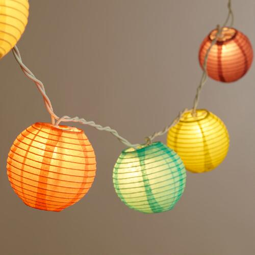 Spring Multicolor Paper 10 Bulb String Lights