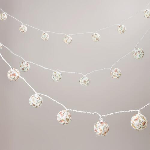Antigua Paisley Paper 10 Bulb String Lights