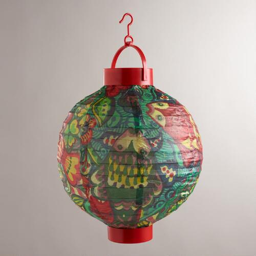 Del Mar Fish Battery-Operated Paper Lanterns, Set of 4