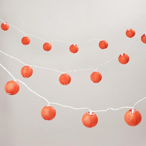 Spicy Orange Paper 10 Bulb String Lights