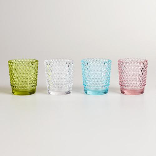 Small Hobnail Tealight Candleholders, Set of 4
