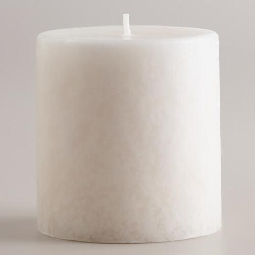 "3"" x 3"" English Gardenia Pillar Candle"