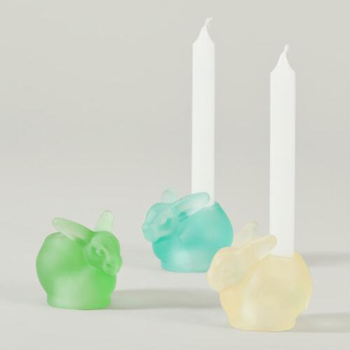 Bunny Mini Taper Candleholders, Set of 3
