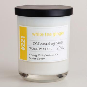 White Tea and Ginger Soy Filled Jar Candle