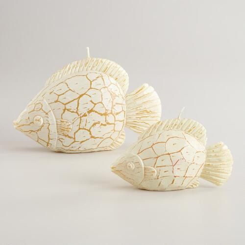 Whitewashed Fish Candles