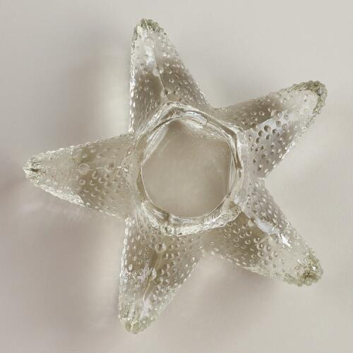 Glass Starfish Tealight Candleholder