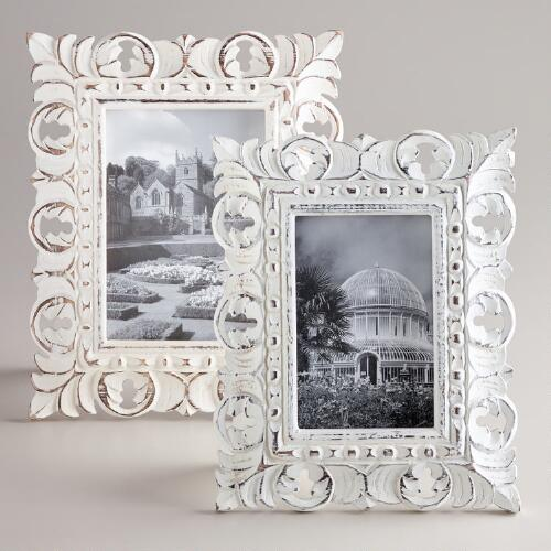 White Chandra Carved Frames