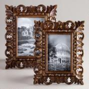 Brown and Gold Chandra Carved Frames