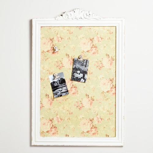 White Lila Wallpaper Memo Board