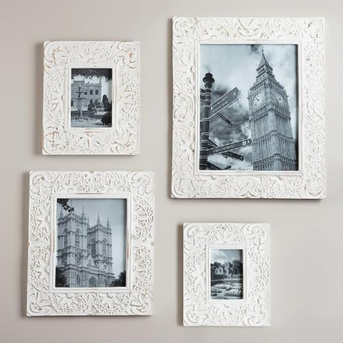 White Leighton Wall Frames