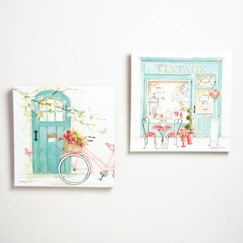 """An Afternoon in Provence"" by Kathryn White, Set of 2"