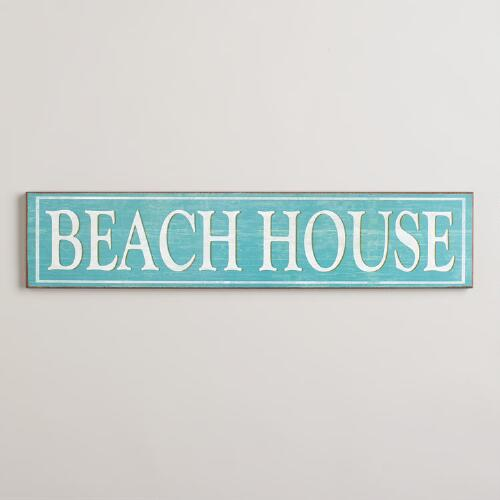 Wooden Beach House Sign