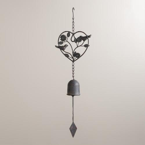 Iron Birds in Heart Wind Chime
