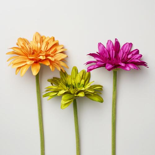 Gerbera Daisy Stems, Set of 3