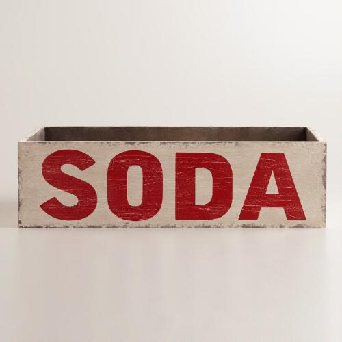 "Red ""Soda"" Storage Crate"