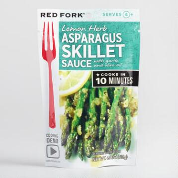Red Fork Lemon Asparagus Sauce, Set of 8