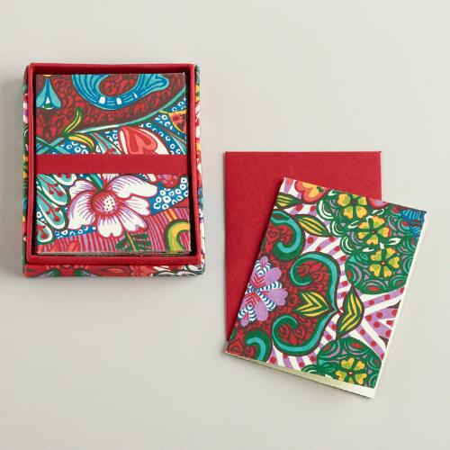 Las Sirenas Handmade Boxed Notecards, Set of 8
